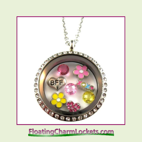 FCL Designs® BFF Theme Floating Charm Locket
