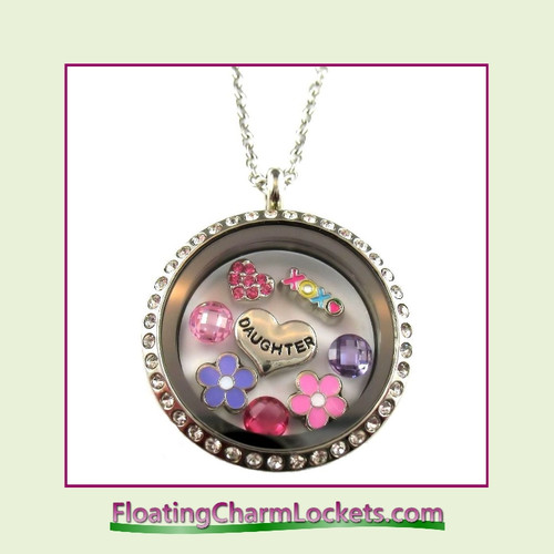 FCL Designs® Daughter Theme Floating Charm Locket