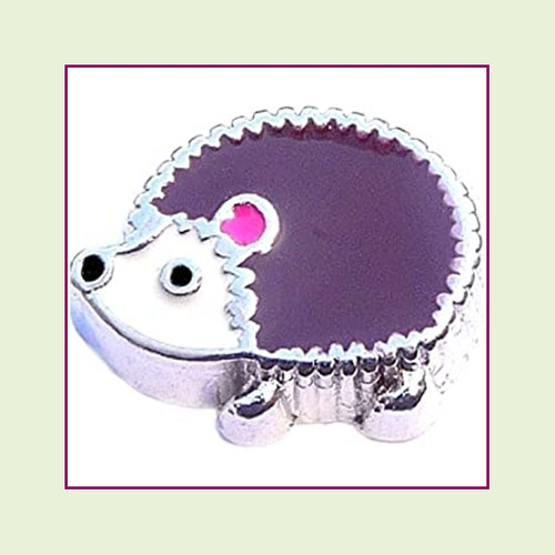 Hedgehog (Silver Base) Floating Charm