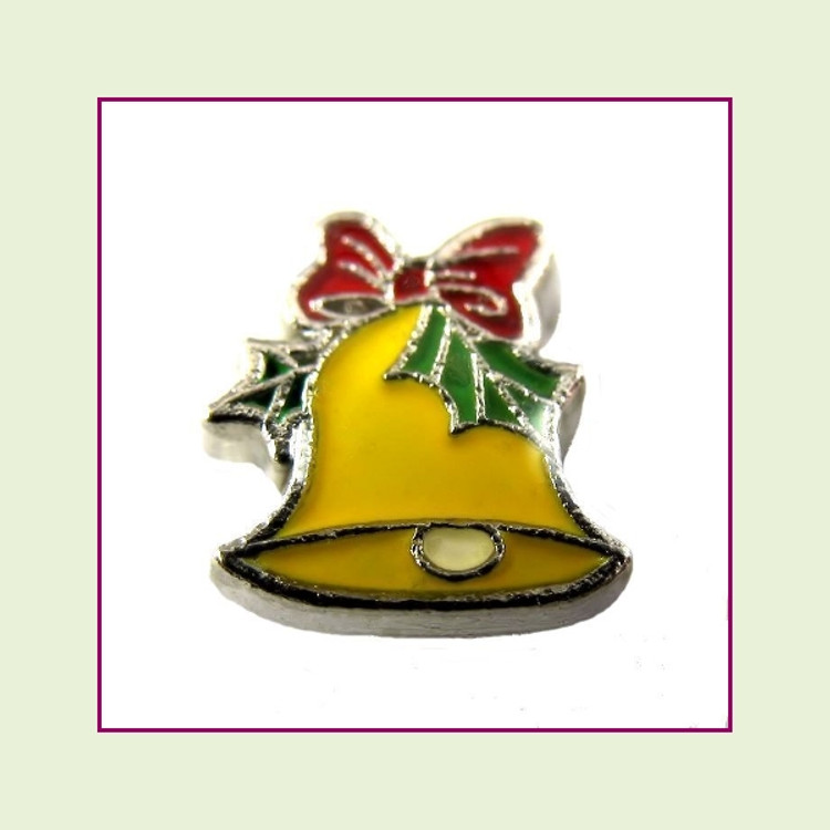 Christmas Bell (Silver Base) Floating Charm