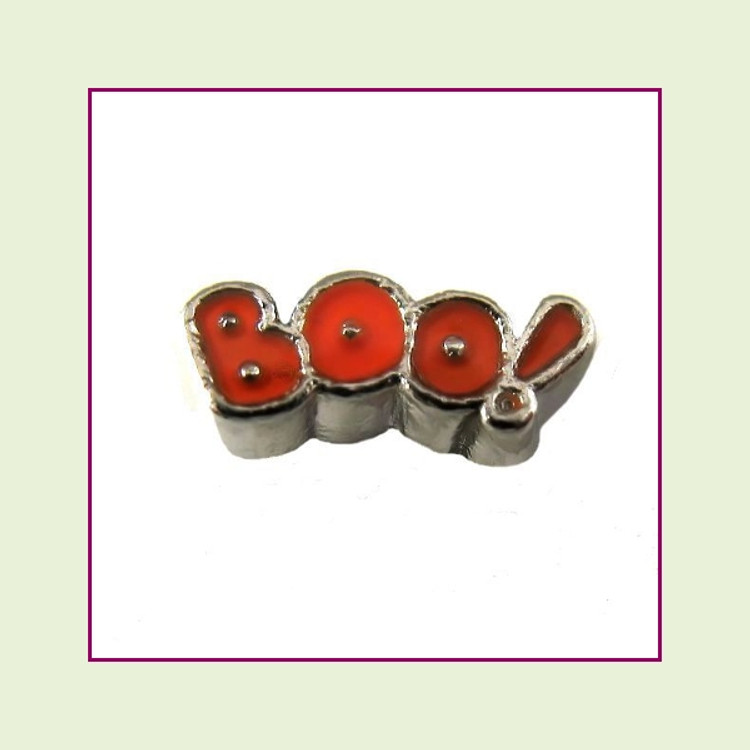 Boo (Silver Base) Floating Charm