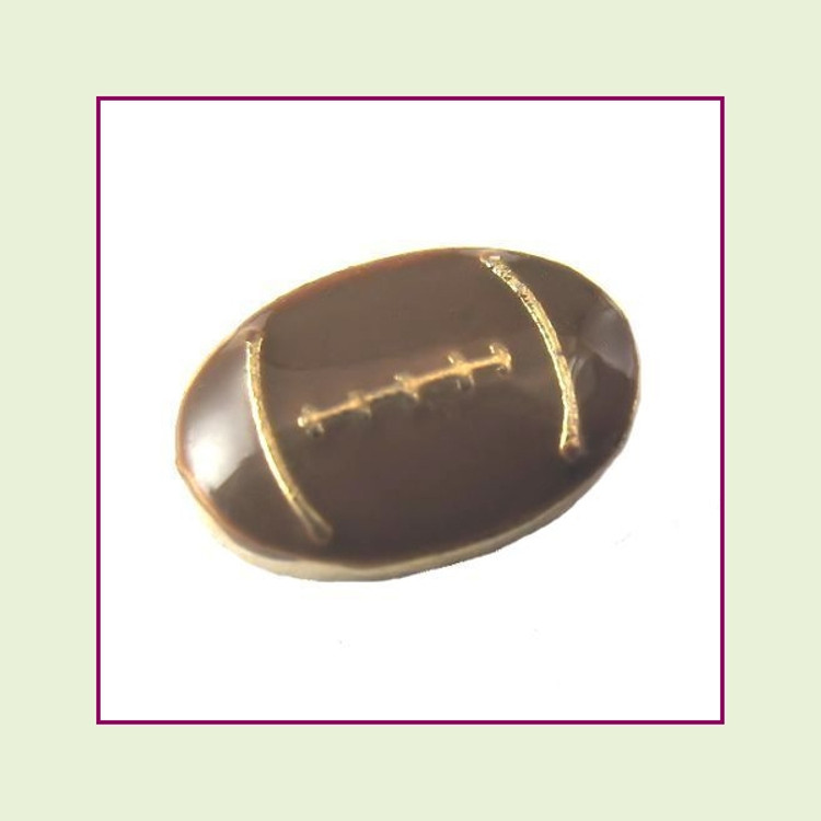 Football (Gold Base) Floating Charm