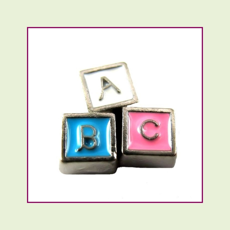 Baby Blocks (Silver Base) Floating Charm
