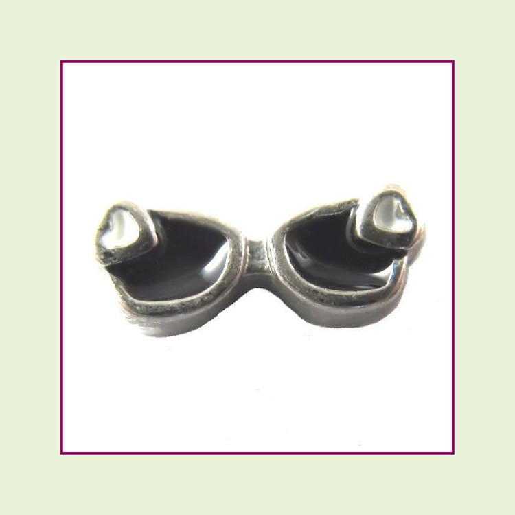 Sunglasses Black (Silver Base) Floating Charm