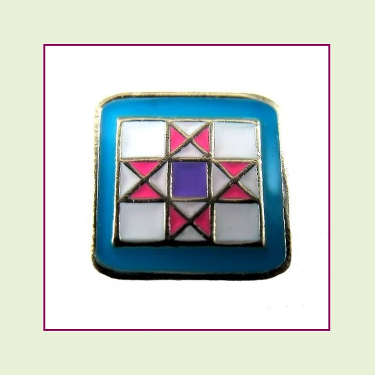 Quilt Block (Silver Base) Floating Charm