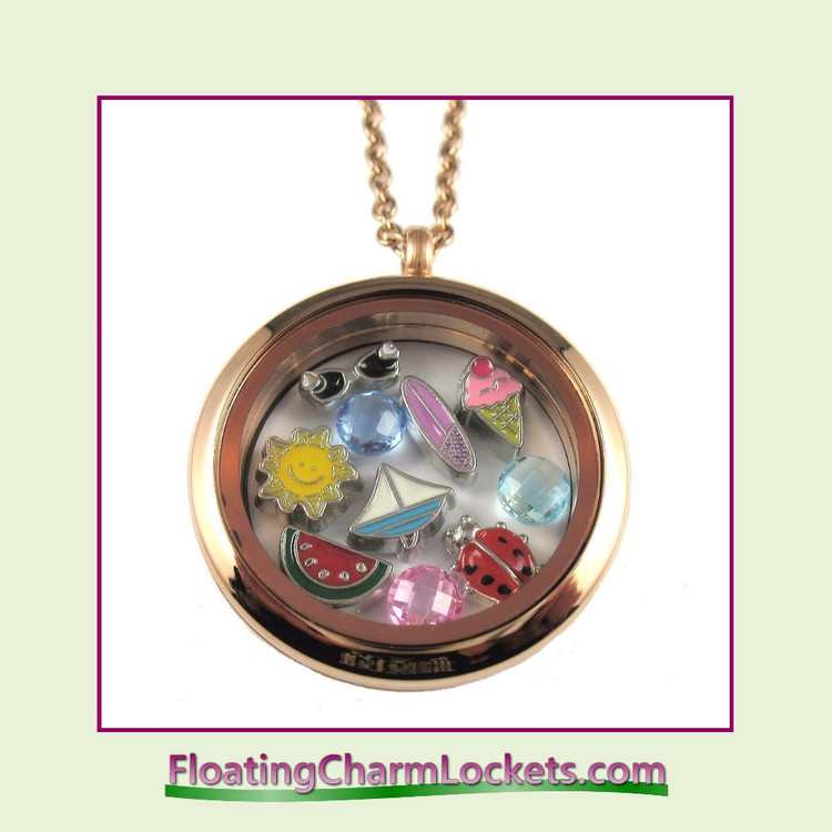 FCL Designs® Summer Theme Floating Charm Locket