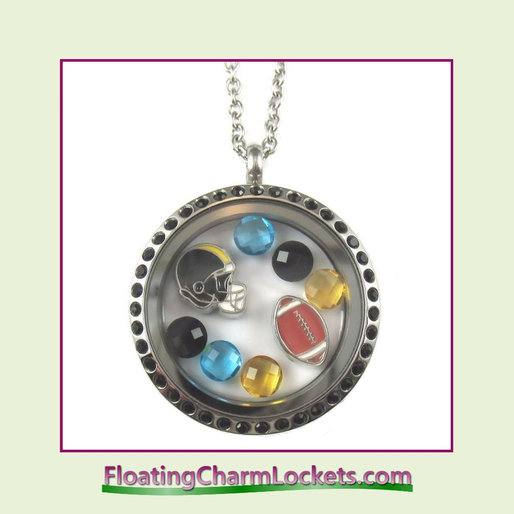 FCL Designs® Jacksonville Football Theme Floating Charm Locket