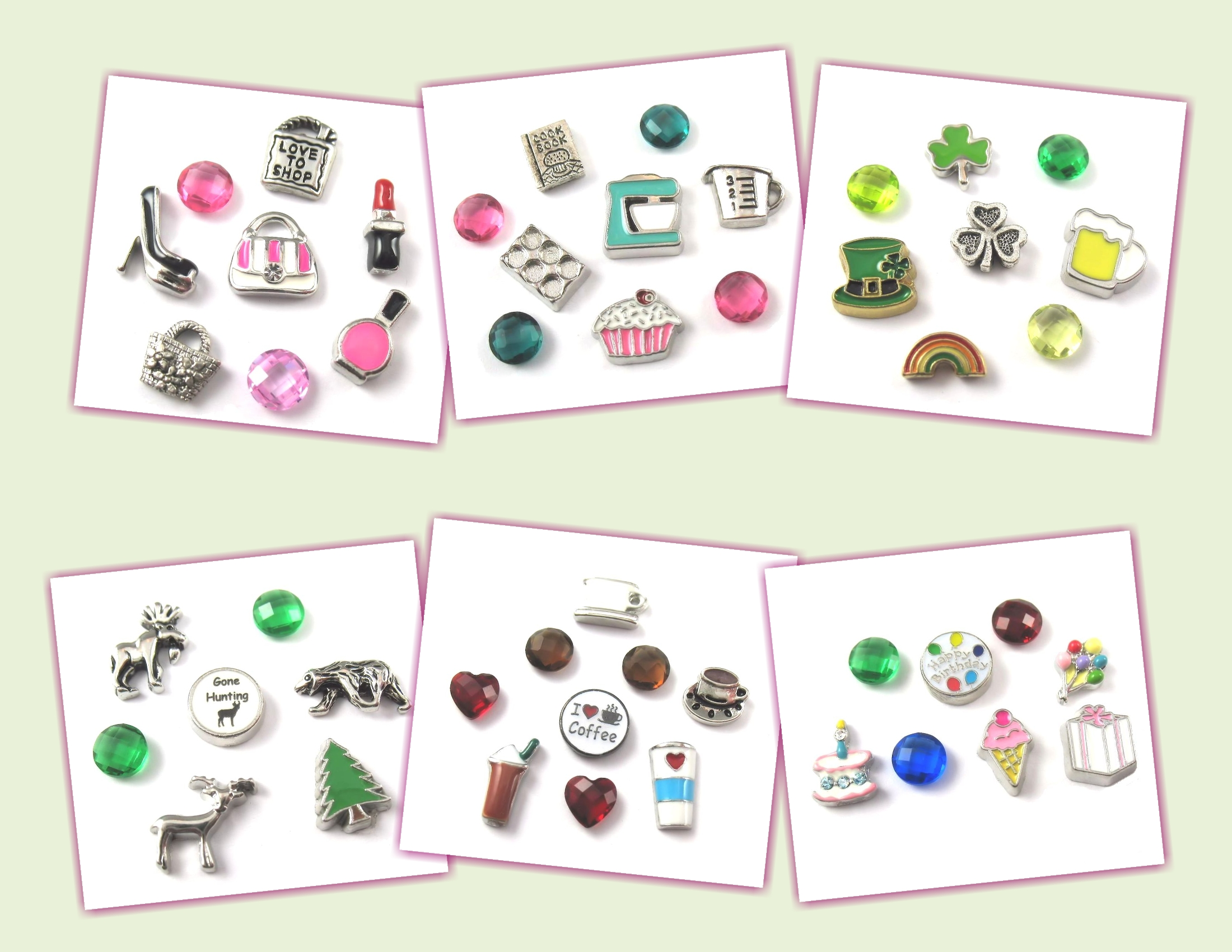 FCL Designs® Floating Charm Combos and Theme Lockets
