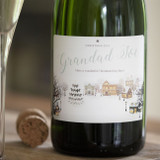 Personalised Snowy Scene Champagne