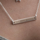 Personalised Bar Sterling Necklace