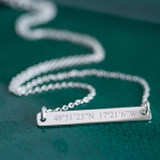 Sterling Coordinate Necklace