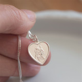 Heart St. Christopher Necklace