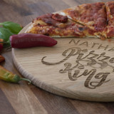 Personalised 'Pizza King' Pizza Board
