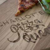 Personalised 'Pizza Queen' Pizza Board