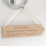 Personalised Floral Wedding Sign