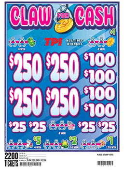 CLAW FOR CASH 24 4/250 1 2200