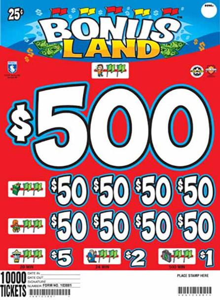 BONUS LAND 38 1/500 25 10000