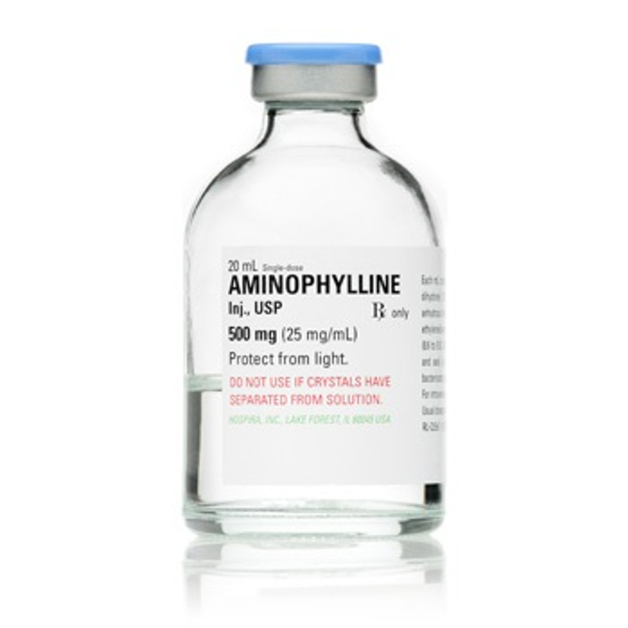 Pfizer 25mg/mL Aminophylline in 20mL Single Dose Ampule