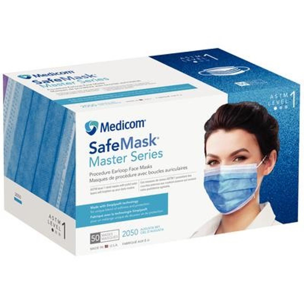 Safemask® Masterseries Sky Medicom Level 1 Earloop Augusta box - Mask 50