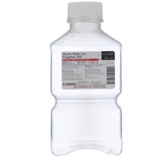 B  Braun Sterile Water for Irrigation in 1,000mL PIC™ Plastic Irrigation  Container - 16/Case
