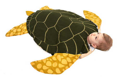 Green Baby Turtle Wearable Blanket