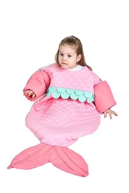 Pink Baby Mermaid Wearable Blanket