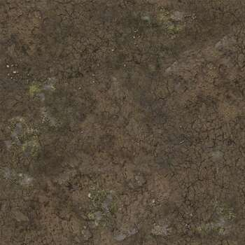 Battle Systems Terrain Muddy Streets Gaming Mat 2x2