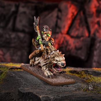 Kings of War Goblins King on Mawbeast
