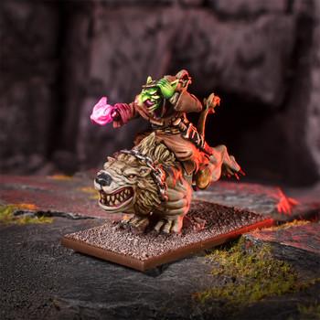 Kings of War Goblins Wiz on Mawbeast