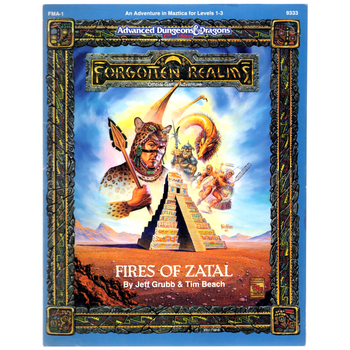 AD&D 2nd Edition Forgotten Realms: Fires of Zatal - Pre-owned