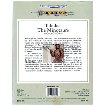 AD&D 2nd Edition Dragonlance: Taladas, the Minotaurs - Pre-owned