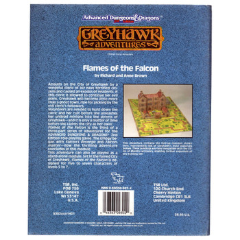AD&D 2nd Edition Greyhawk: Flames of the Falcon - Pre-owned
