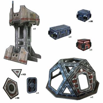 Battle Systems Scifi Terrain Outlands Explorer Station Set - Backorder