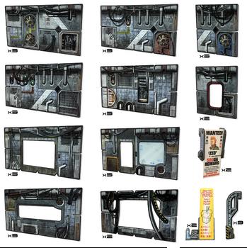 Battle Systems Scifi Terrain Cyberpunk Core Set - Backorder