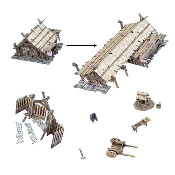 Battle Systems Fantasy Terrain Northern Settlement Accessories