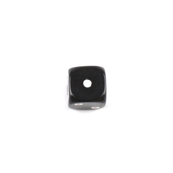 Set of 8 Opaque Black 16mm d6 with White Pips