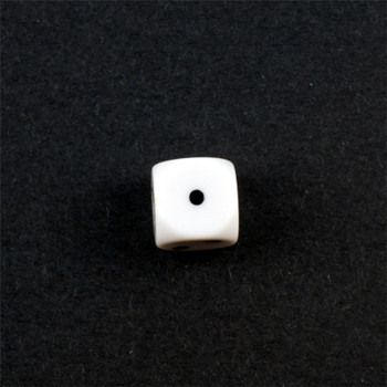 Set of 3 Opaque White 16mm d3 with Black Pips