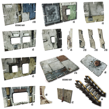Battle Systems Urban Apocalypse Terrain Shanty Town Core Set