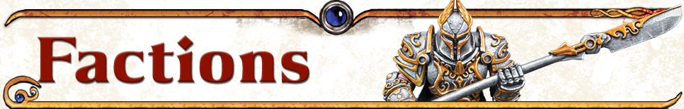 Kings of War Vanguard Factions Scroll