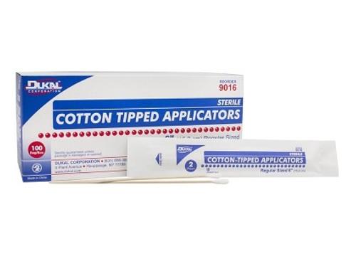 """Cotton Tip Applicators 3"""" Sterile 2/pkg 100pkg/box -2"""