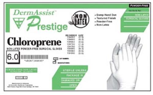 DermAssist Prestige Polychloroprene PF Surgical Glove Size 8.5 25pr/box
