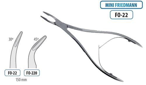 BMT Bone Rongeur Mini Friedmann Curved 150mm -3