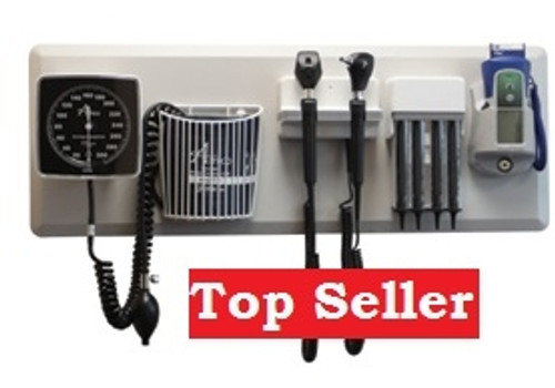 Amico Diagnostic Station with Coaxial Ophthalmoscope, Fiber Optic Otoscope, Specula Dispenser, Digital Predictive Thermometry, Aneroid, Cuff Basket, and Adult Latex-Free Cuff. -3