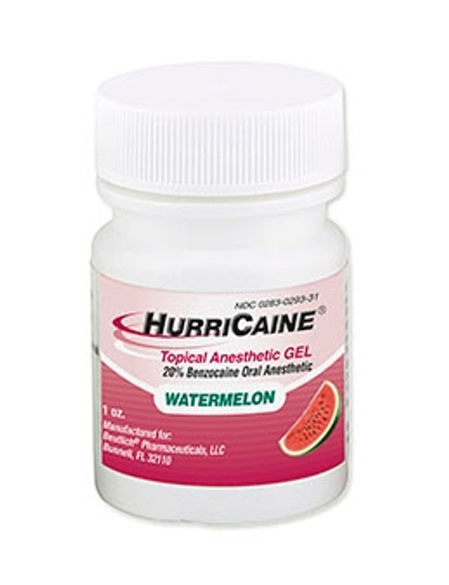 Beutlich Hurricaine Topical Anesthetic Gel Watermelon 1oz