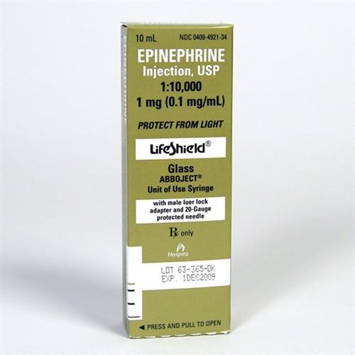 Hospira Epinephrene Injection 1:10,000 Pre-Filled 10ml Syringe