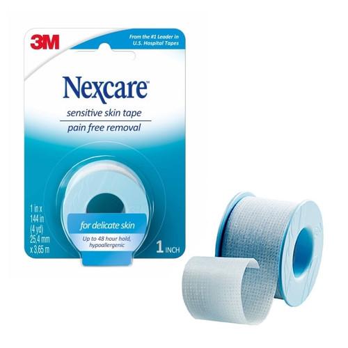"3M Nexcare Sensitive Skin Tape 1"" x 4yd/roll"