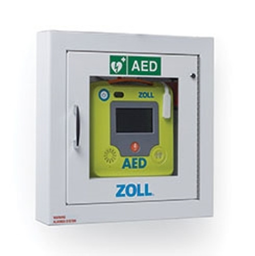 Zoll AED 3 Semi-Recessed Alarmed Wall Cabinet