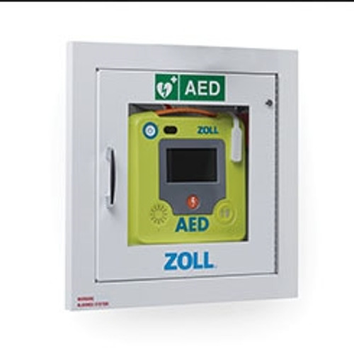 Zoll AED 3 Fully-Recessed Alarmed Wall Cabinet