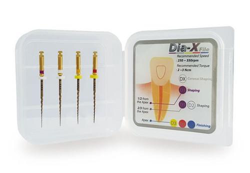 DiaDent Dia-X NITI Rotary Files Assorted D1-D4, 21mm, 4/pkg