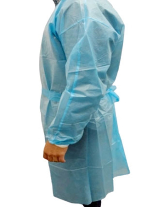 Disposable Protective Gown with Knitted Cuffs Level 2 Non-Sterile, 10/bag